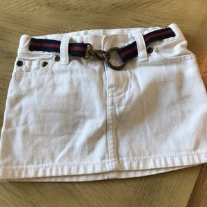 Ralph Lauren toddlers skirt white with belt size 4